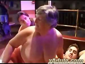 Fatty Grannies Having Filthy Sex in a Strip Club with Alluring 18yo Studs