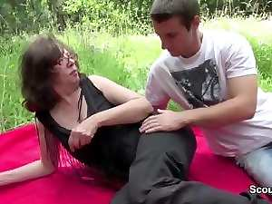 Slutty mom get seduce to fuck german Step-Son horny in public