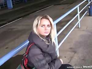 Cunt STOP - Tempting blonde Czech Cougar picked up at the bus station