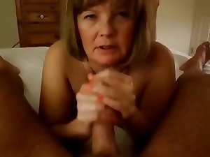 Aged Handjob #1 (On the Bed)