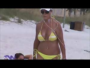 filthy solid jiggly tit spy on beach 32