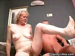Hirsute Granny Prick Caresses And Gets Screwed
