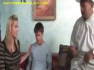 Attractive Mommy Tempting blonde caresses BBC