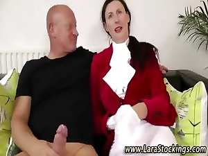 Posh attractive mature euro cougar banged