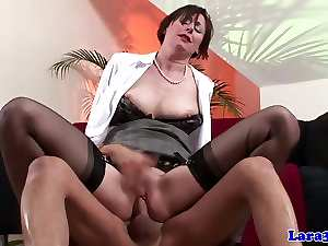 Stockings english aged spanked and drilled