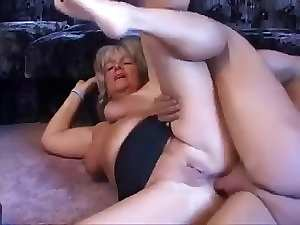 Blond aged stroking and assfucked