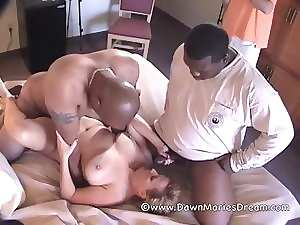 Aged Redhead Mommy Dawn Marie Interracial Gangbang Part 2