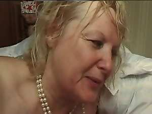 FRENCH Experienced n5 tempting blonde big beautiful woman bum mama mum and 2 bi men
