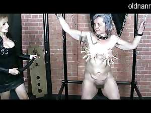 Older Nanny: Experienced domina doing BDSM games with granny