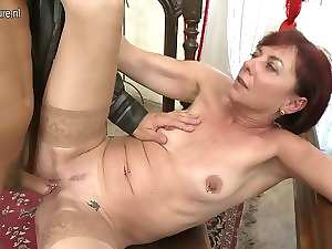 Aged teacher mamma fellatio and screwing her student