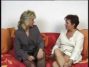 2 Filthy German Mature whores share a husband penis