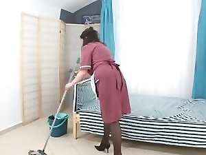 lad fuck very hairy experienced maid