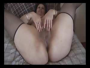 Buxom Attractive mature - Big very hairy snatch