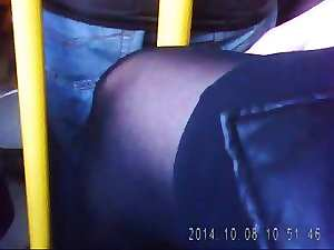 Experienced sexual legs in ebony pantyhose! Spy Cam! Amateur!