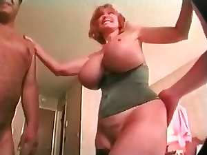 Attractive mature Buxom Patty Plenty Gets Spit roasted